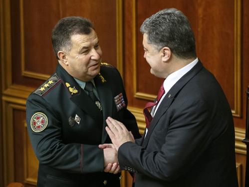 Степан ПОЛТОРАК, Пётр ПОРОШЕНКО. Фото: © Reuters