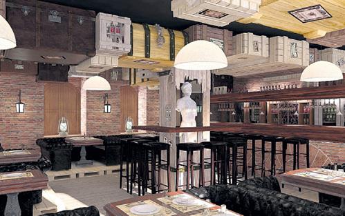 Интерьеры ресторана актёра были выполнены в стиле арт-деко. Фото: helendesign.ru