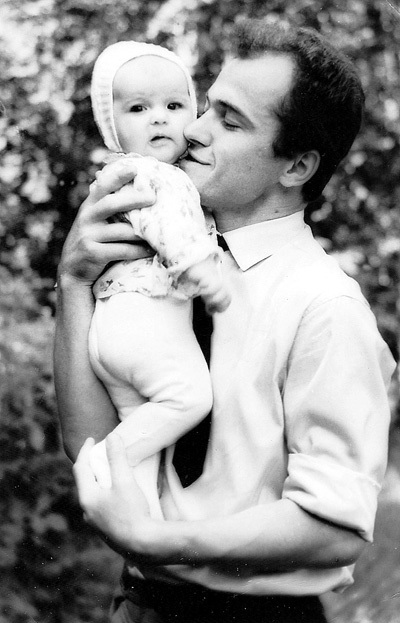 С дочкой Виорикой (1967 г.)