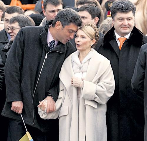 С Юлей ТИМОШЕНКО (ГРИГЯН) и Петром ПОРОШЕНКО (ВАЛЬЦМАНОМ) покойного оппозиционера объединяла ненависть к России