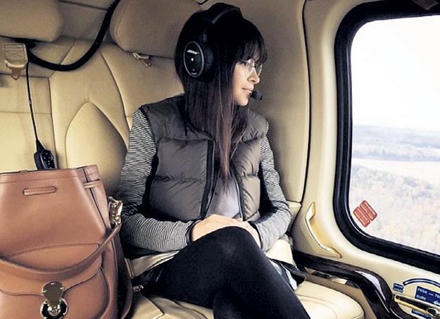 Дочь сенатора и жена министерского работника Мирослава ДУМА летает за покупками на своем вертолёте. Фото: Instagram.com
