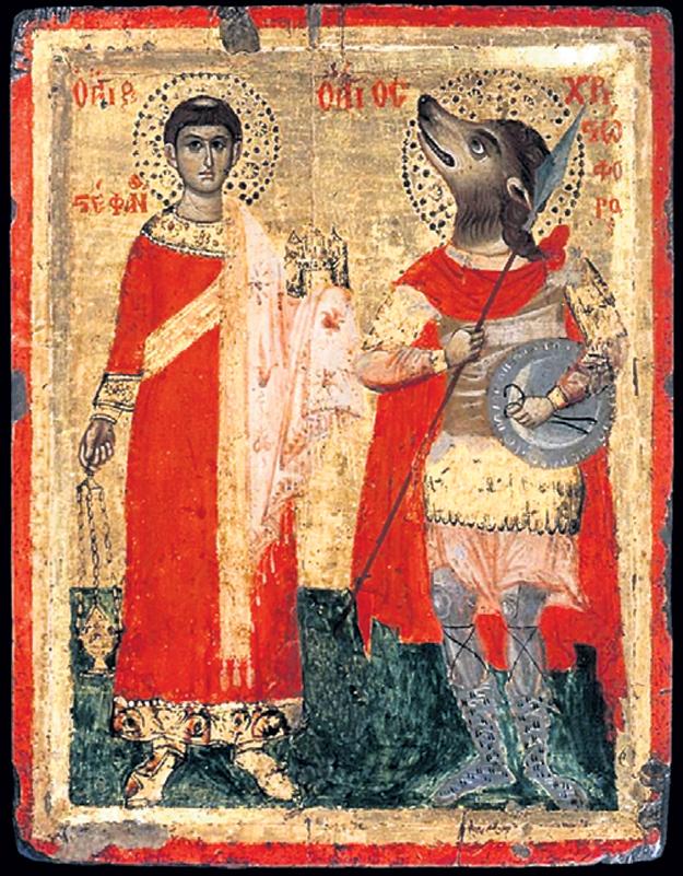 Христофор был псоглавым воином, но сражался на нужной стороне и выбился в святые