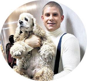 Пёс Слива от расстройства за провал хозяина Мити надул на пол