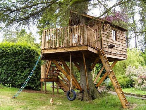 Детские домики на дереве своими руками фото