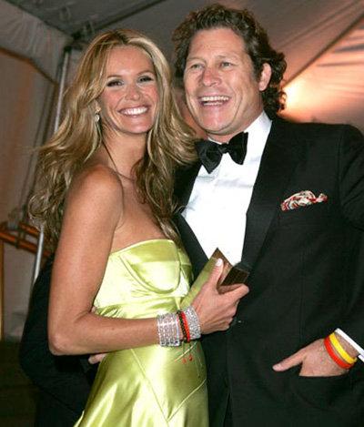 Арпад Бюссон со своей бывшей женой - супермоделью Эль Макферсон