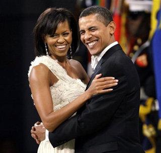 Барак Обама с женой Мишель изо всех сил изображают  счастливую пару - фото tumblr.com