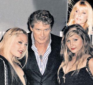 Дэвид с дочерьми Хэйли и Тэйлор Энн (справа вверху - Барбара БАЧ)