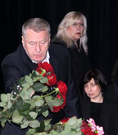 Владимир ЖИРИНОВСКИЙ, Ирина МИРОШНИЧЕНКО, дочь Михаила ШАТРОВА Наталья