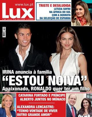 Обложка  журнала Lux, которому Ирина рассказала о своей  помолвке
