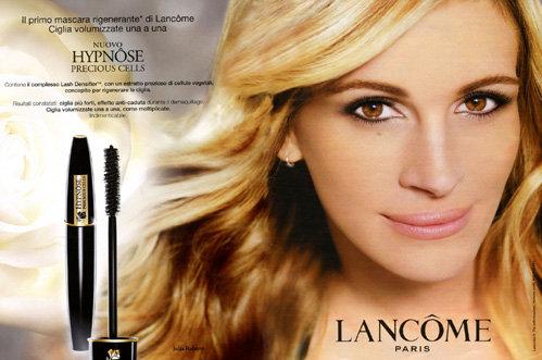 В рекламе компании Ланком Джулия Робертс выглядит лет на 15 моложе - фотошоп постарался