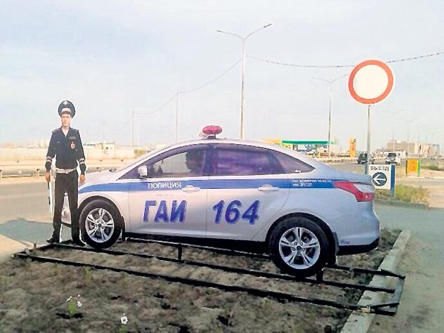 В Подмосковье украли муляжи машин ДПС