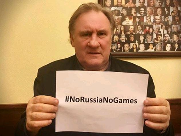 Депардье подключился к флешмобу в поддержку олимпийской сборной России