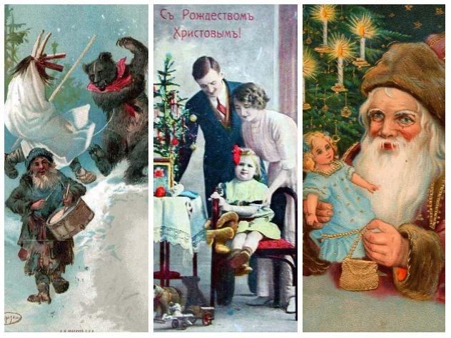 Самые красивые ретро-открытки к Новому году и Рождеству