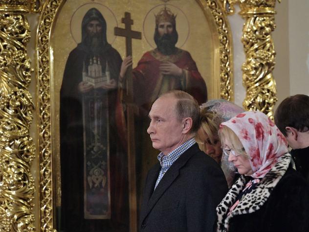 Владимир Путин обратился к православным в связи с Рождеством