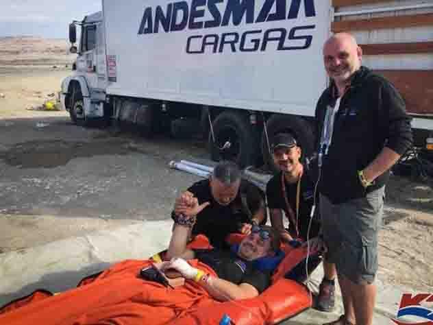 Российский пилот на «Дакаре» сломал позвоночник и продолжил гонку