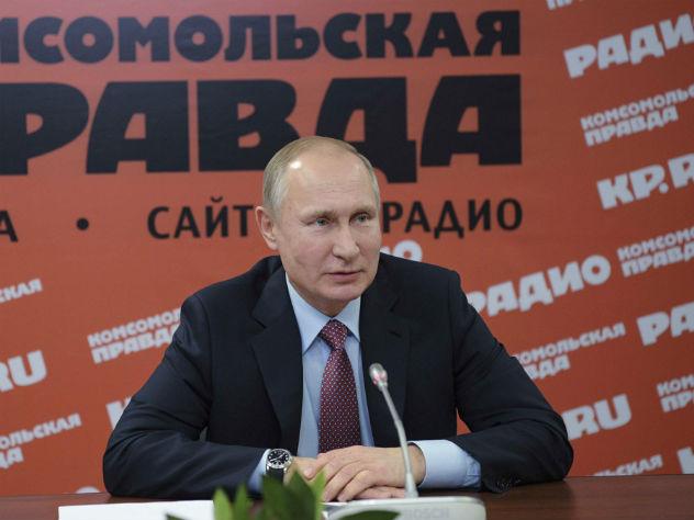 Путин сравнил алкоголь и материнское молоко