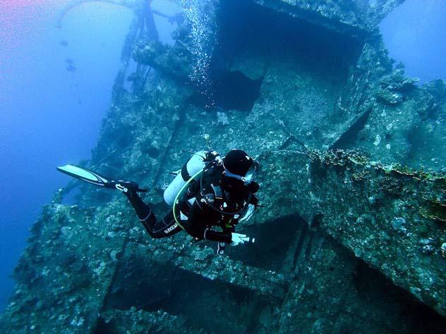 Кладбища кораблей, подводные музеи и еще 20 поводов для дайвинга в Крыму