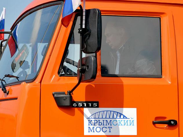 Песков не видел, что Путин пристегивался перед поездкой по Крымскому мосту
