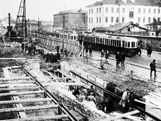 Как строили московское метро: фотохроника