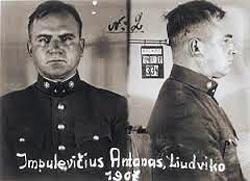 Антанас Импулявичюс, «минский мясник», фото 1940 года. Фото: wikimedia.org