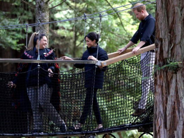 Принц Гарри и Меган Маркл в Новой Зеландии