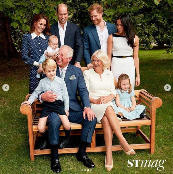 Фото принца Чарльза и его внуков