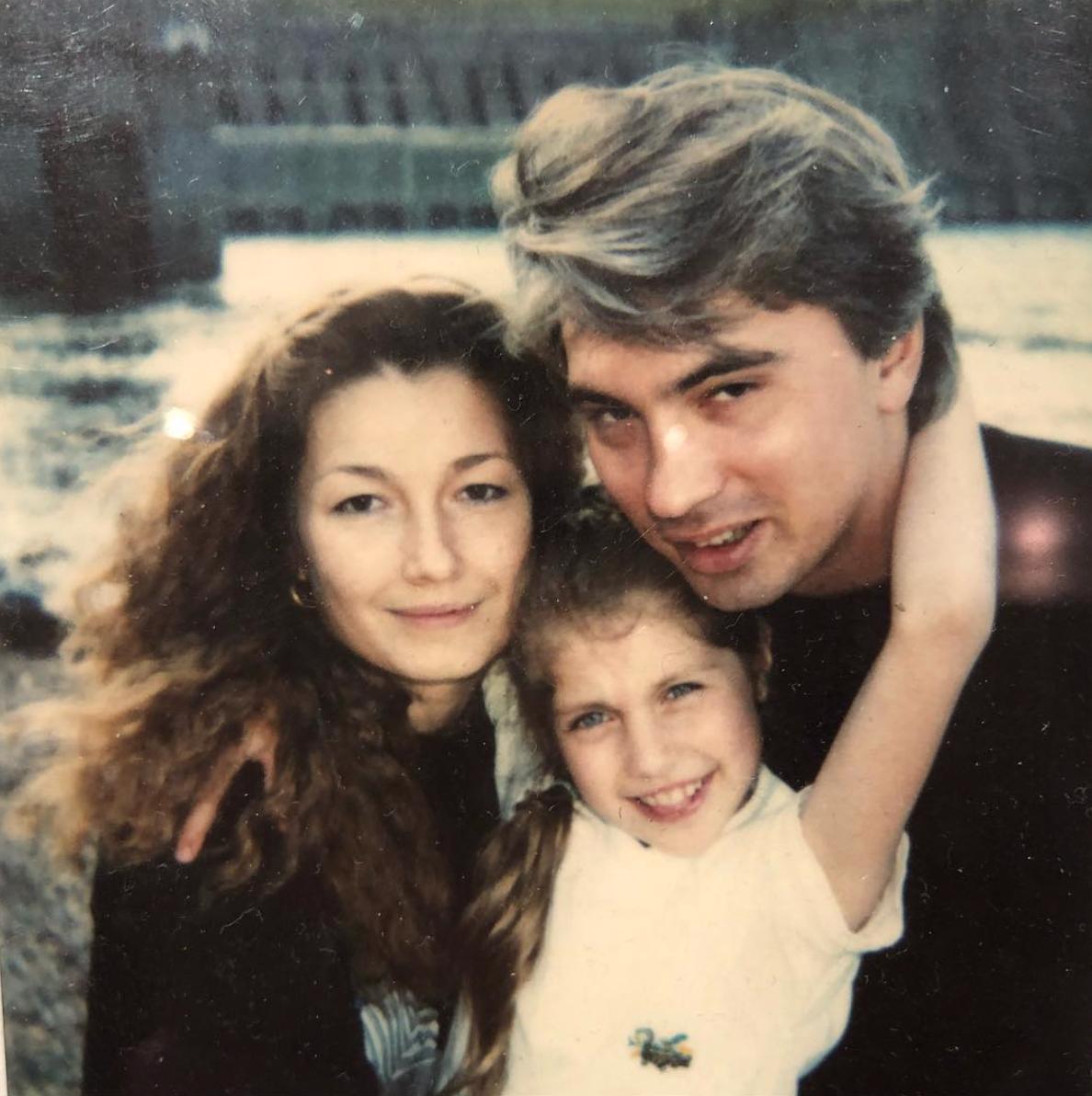 Мария Хворостовская с семьей